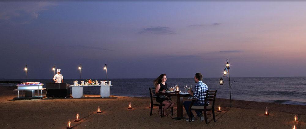 dinner at beach