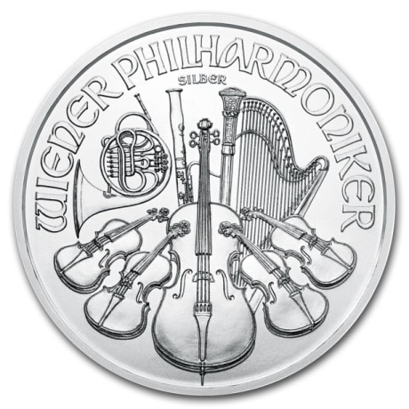 Bécsi Filharmonikusok ezüstérme 1 uncia