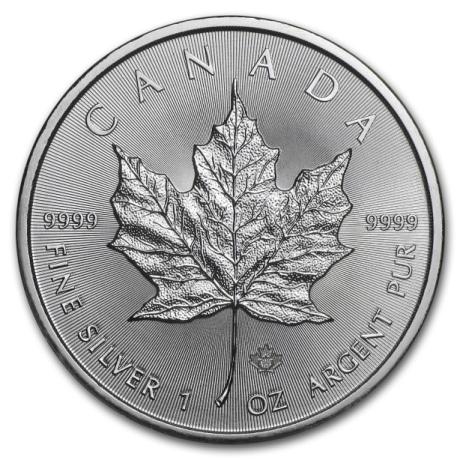 Maple Leaf ezüstérme 1 uncia