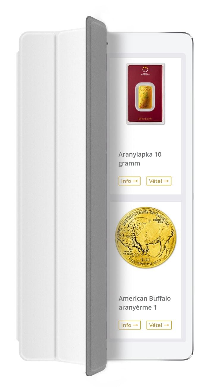 Goldtresor - Arany, ezüst, platina és palládium termékek vásárlása, eladása