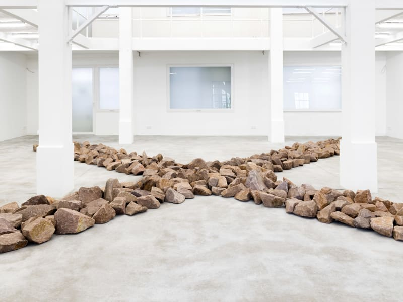 Konrad Fischer Galerie: Richard Long, River of Stones (detail), Madhavendra Palace, Jaipur 2018,