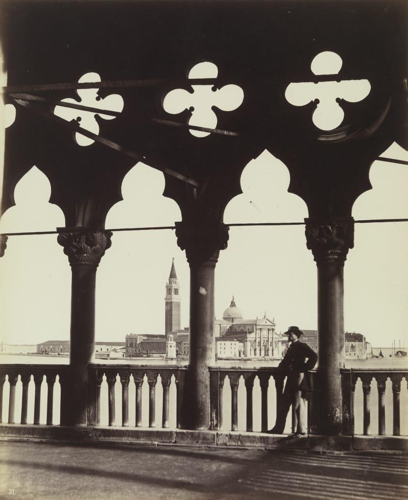 Carlo Naya (1816-1882), Blick auf San Giorgio von der Galerie des Dogenpalastes, um 1865
