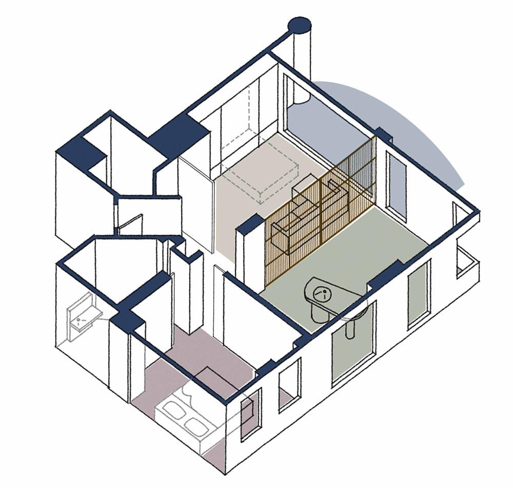 Kleine Räume: Ein 77 Quadratmeter großes Penthouse in Sydney