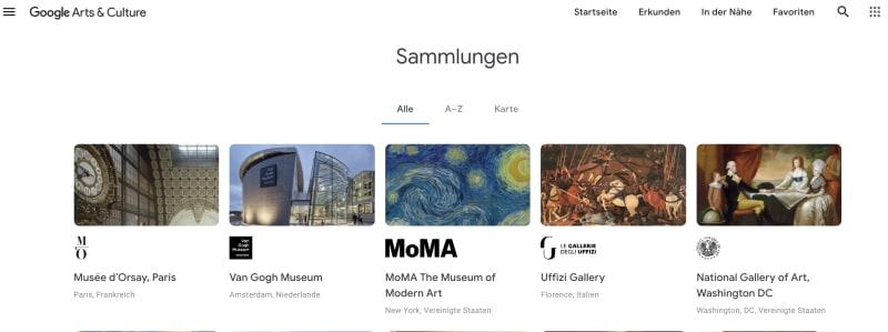 Google – die Google Arts & Culture App