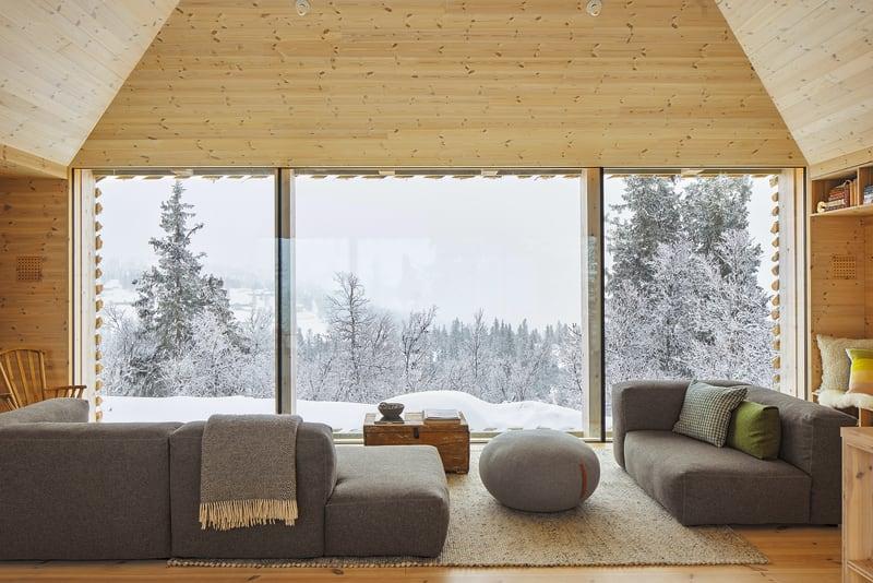 Wohnzimmer Skygard Hytte