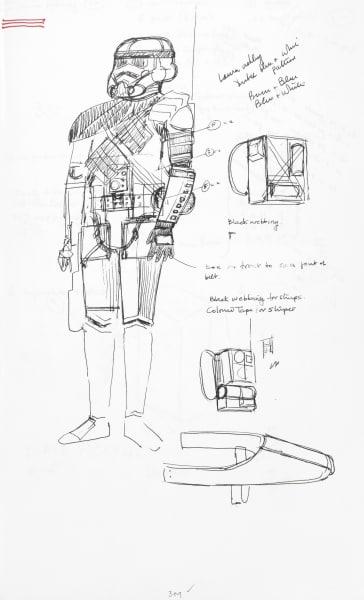 """Erste entwürfe für die intergalaktischen Schocktruppen des Imperiums: Hier der sogenannte """"Stormtrooper"""" in Standarduniform …"""