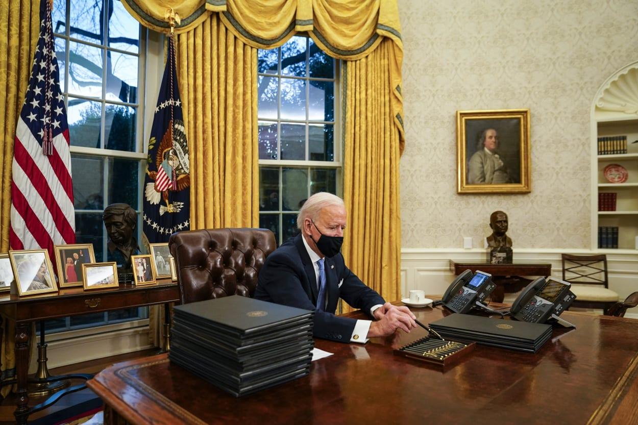 Joe Biden Kunst im Oval Office