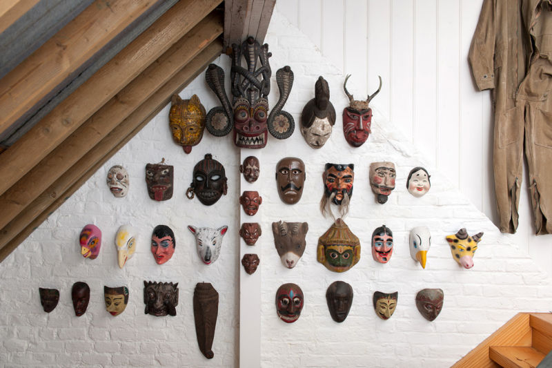 Masks from the collection of Peter Blake.