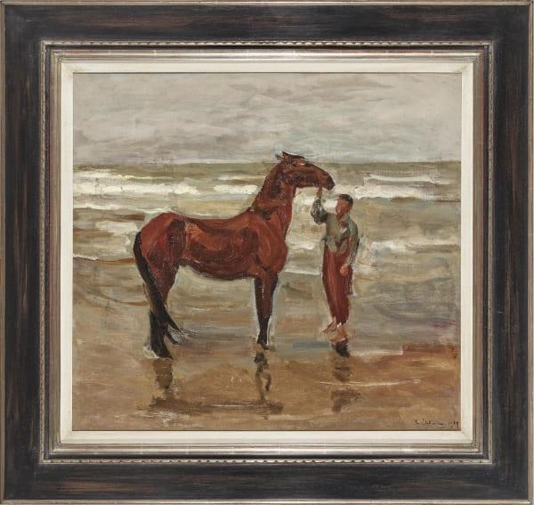 """Max Lieberman: """"Junge mit Pferd am Strande"""" (1907), Öl auf Leinwand, Kunsthandel + Galerie Dr. Nöth"""