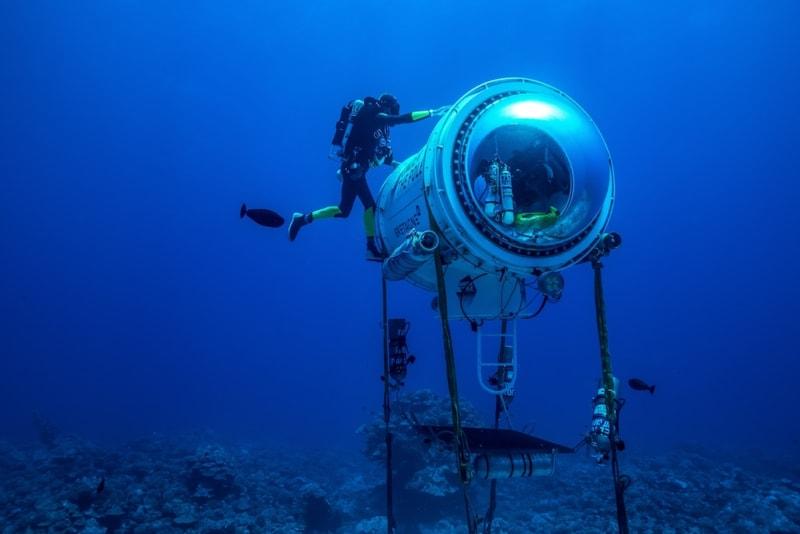 Rolex Doku Ghislain Bardout bei Unterwasser Kapsel