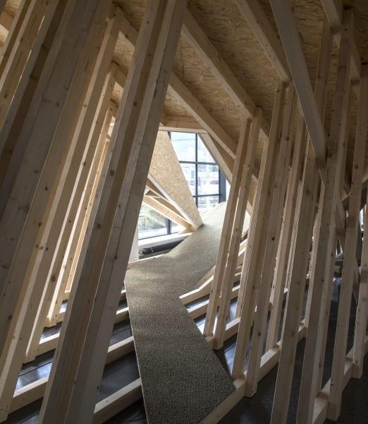 Für Snøhetta ist Architektur gebaute Landschaft, die hier in der Ausstellung sichtbar und erlebbar gemacht wird.