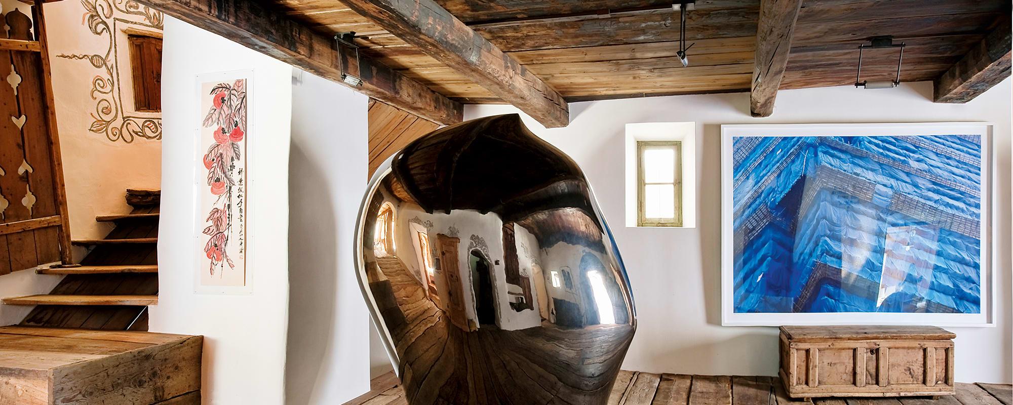 Unterengadin Bauernhaus, Duri Vital Bauernhaus, Not Vital Bildhauer Kopf, Peter Steinhauer, Qi Baishi