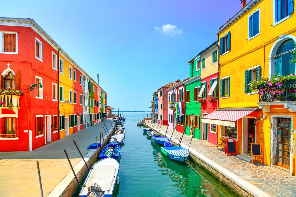 Burano, Italien, Kanäle