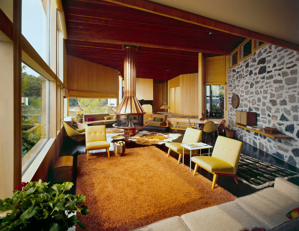 Miller Cottage, Muskoka, Ontario, Kanada, Alexander Girard, 1950–1952.