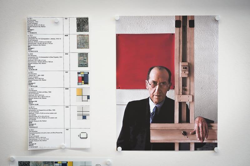 Sieben Werke Mondrians