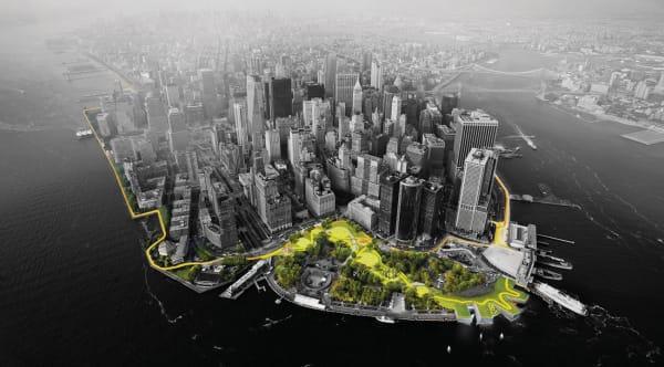 BIG U heißt der Wall, der, wenn er nicht gerade die Fluten abwehrt, die Menschen in der Metropole wie in einem großen Park zusammenbringt.