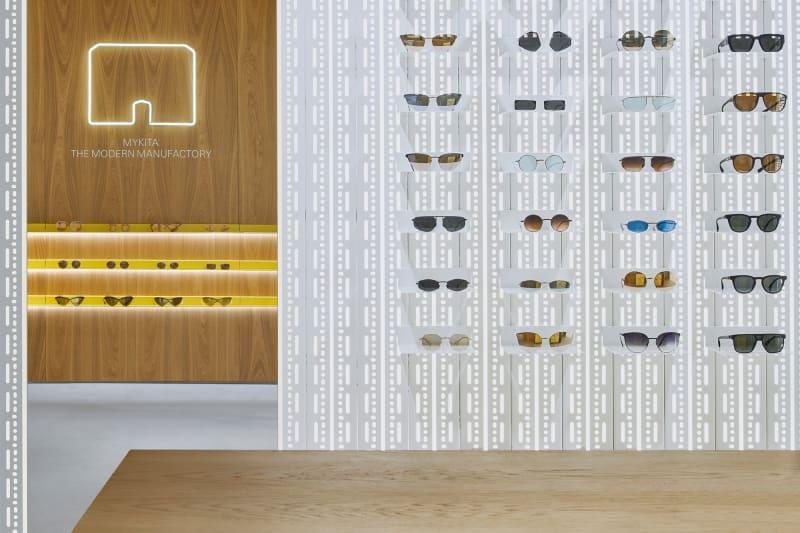 MYKITA Shop, Barcelona, Brillenwand