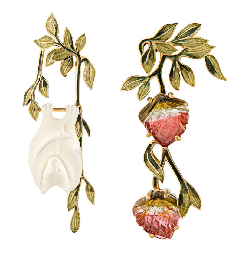"Tessa Packard, ""Fruit Bat Earrings"""