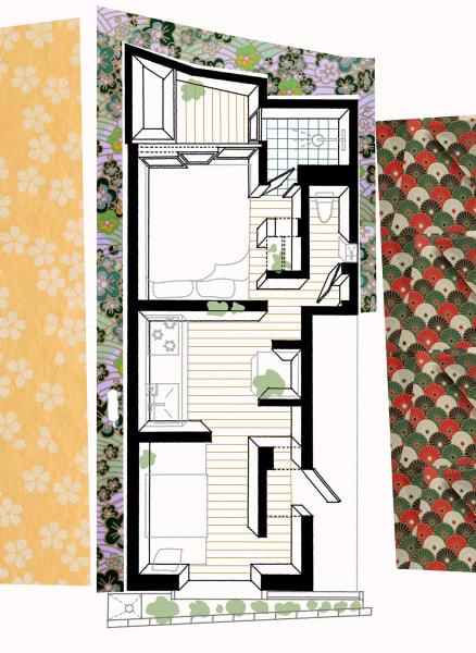 Zwei Zimmer, Küche, Bad, das Ganze auf 19 Quadratmetern. Dafür, dass sich das Love2 House für die beiden Bewohner dennoch nicht beengt anfühlt, sorgt die dritte Dimension: Auf ganzer Länge öffnet sich der Bau nach oben ins Dach – ungenutztes Volumen, aber fürs Raumgefühl unerlässlich.