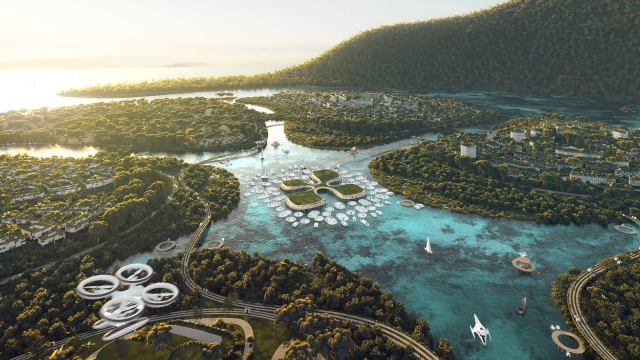 Künstliche Inseln, Wohnen, Zukunft, Innovation, Bjarke Ingels Group, Malaysia, Penang, BiodiverCity