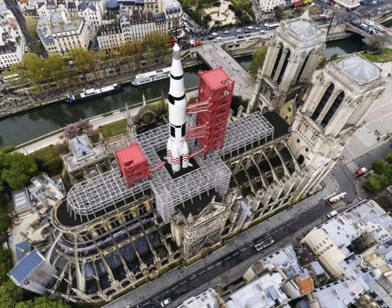 Notre Dame als Raketenabschussrampe