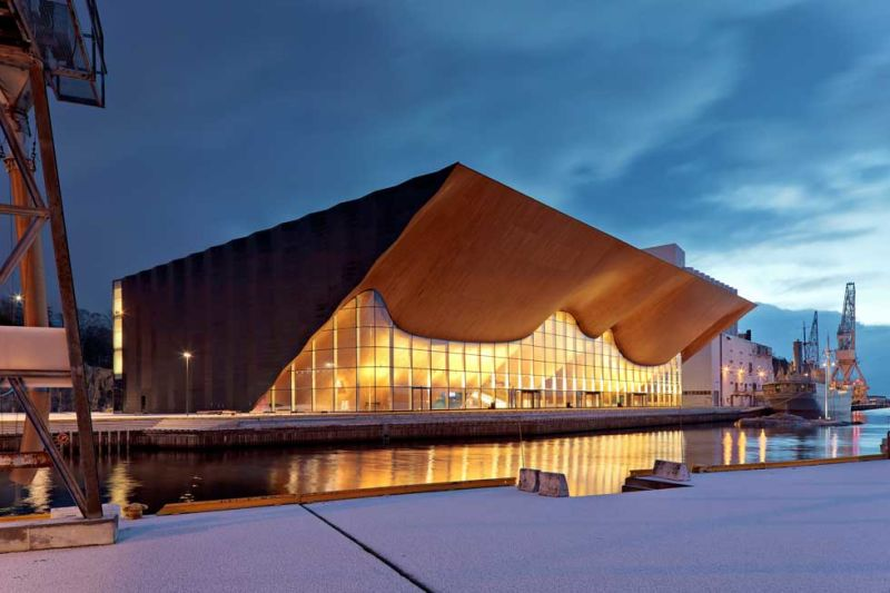 ALA Architects, Kilden Theater- und Konzerthaus, Kristiansand, Norwegen