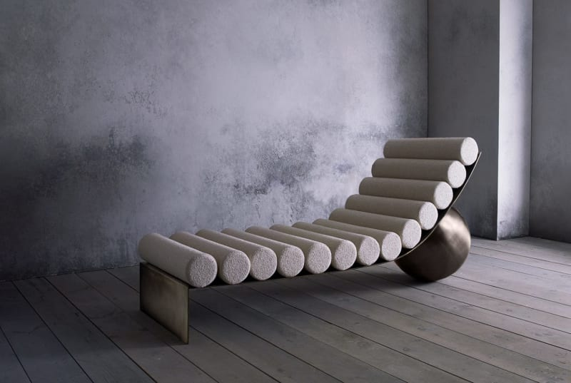 "3. Anna Karlin, ""Curved Chaise"""