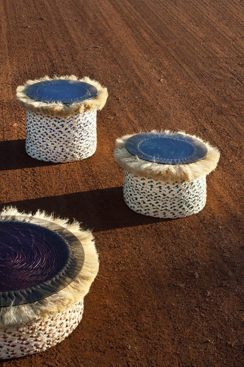 """Tische """"Joias"""" aus Carnaubapalmen-Fasern von Sep Verboom"""