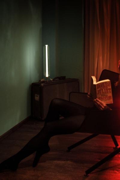 """Die Tischlampe """"Scintilla"""" von Pietro Russo."""