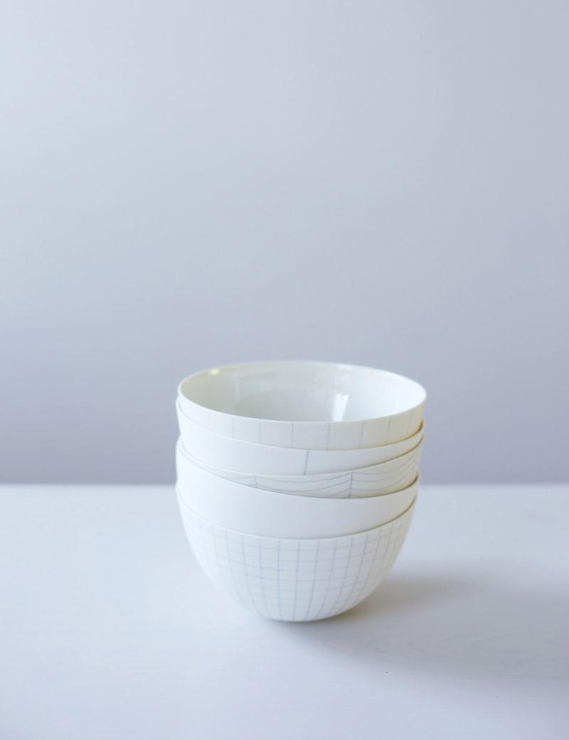 Schoemig Porzellan Graph-Schalen