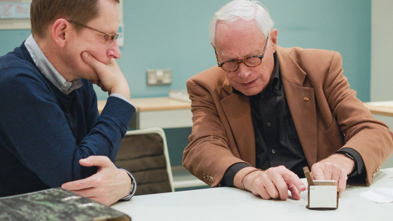 Dieter Rams mit Mark Adams