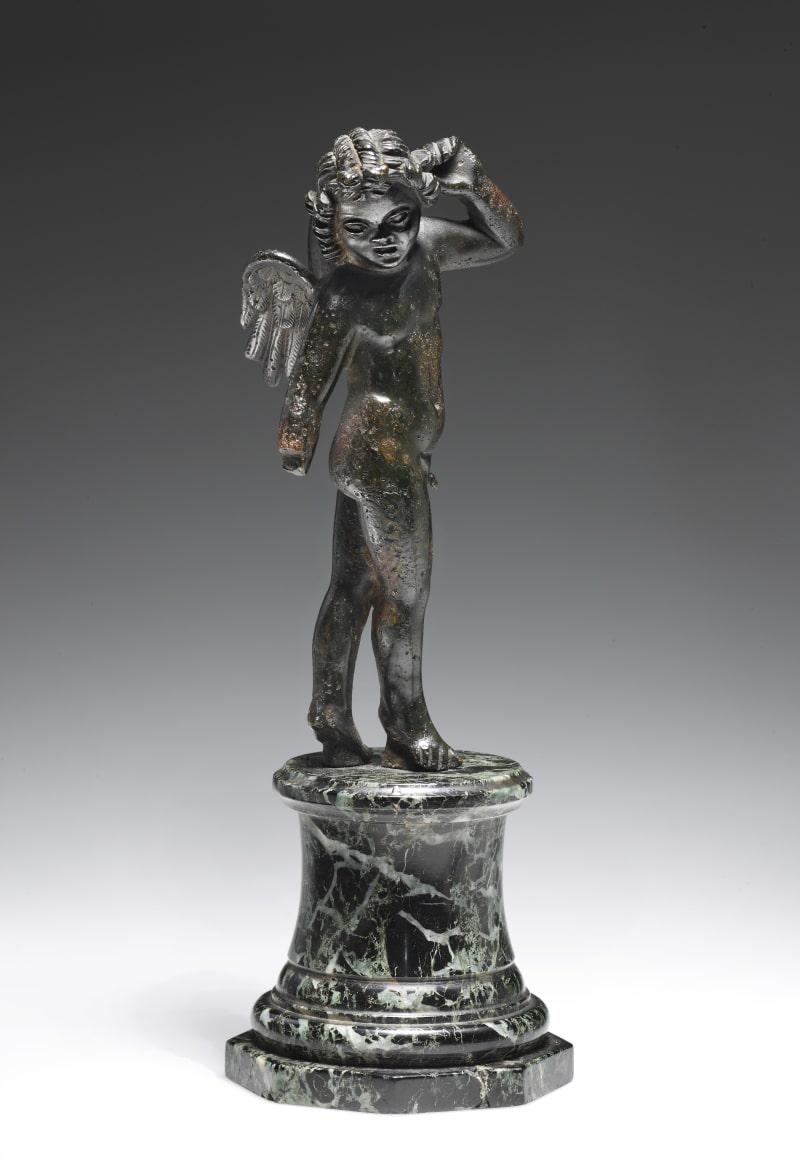 Statuette des tanzendes Eros, Bronze. Römisch, 1. Hälfte 2. Jh.n.C.