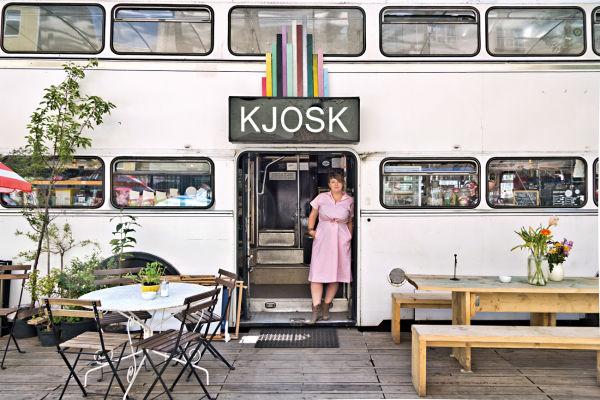 Der Doppeldecker-Bus von Rosmarie Köckenberger.