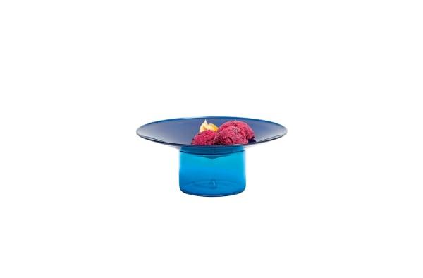 """""""Vovo"""" aus lackiertem Borosilikatglas, Set von je drei frei kombinierbaren Sockeln und Kelchen, 429 Euro treproduct.com"""