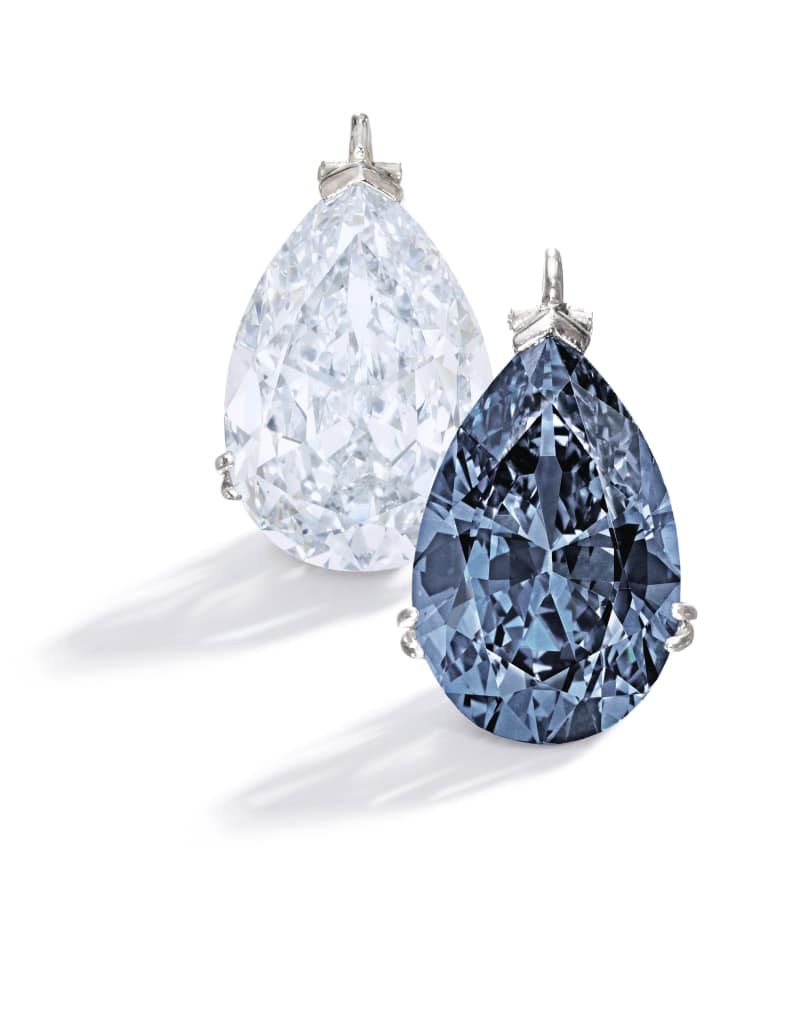 Fancy Vivid Blue Diamond and Fancy Blue Diamond
