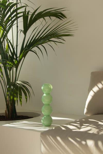 """Glasvase """"Bubbles"""" der spanischen Designerin Valeria Vasi, 40 cm hoch, 225 Euro."""