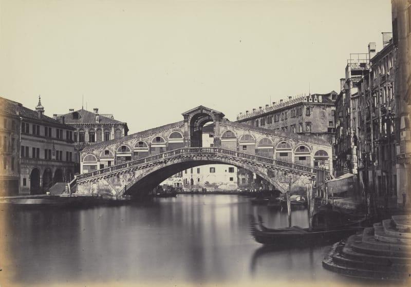 Antonio Perini (1830-1879), Rialtobrücke von Süden, um 1858