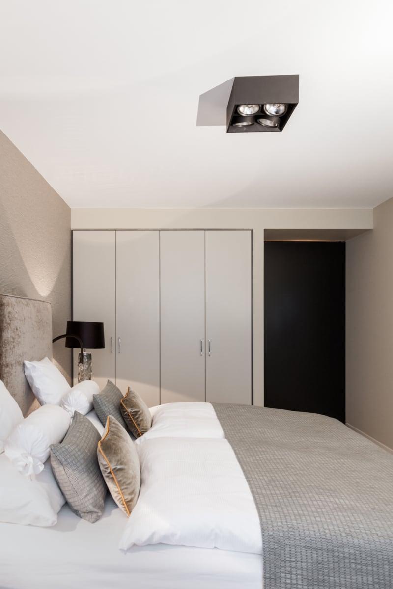 Schlafzimmer in der Musterwohnung des Tertianum Berlin