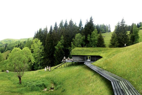 """""""Uns hat die Natur fasziniert, der Schnee, und die Bären!"""", so die Architekten von Ciguë. Realisiert wurde das Projekt bisher allerdings nicht."""