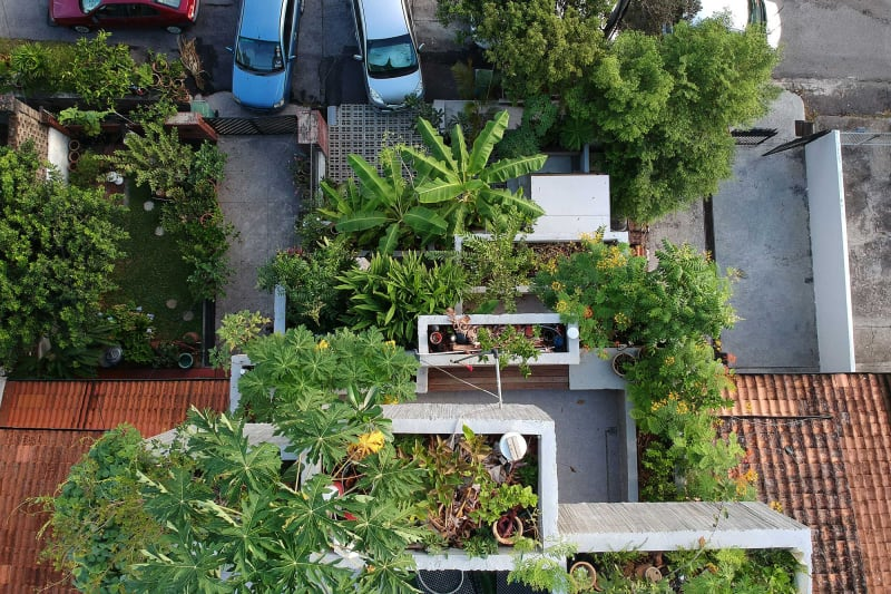 Planter Box House von Formzero Architekten
