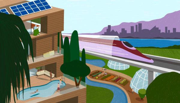 Wie wir 2021 leben und arbeiten könnten, illustrierte die Rotterdamerin Maaike Canne