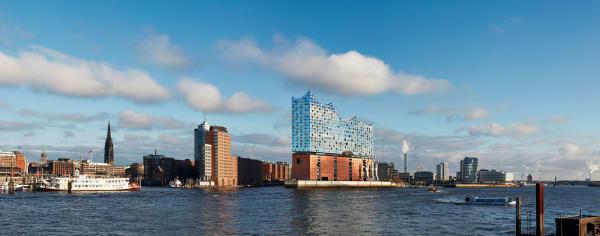 Die Elbphilharmonie in Hamburg .