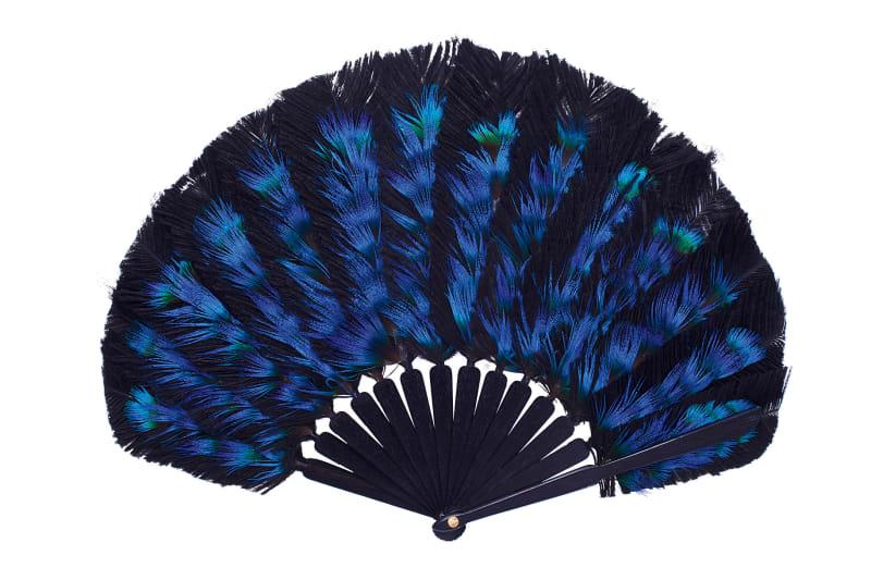 """10. Fächer """"Peacock Polka"""", Duvelleroy"""