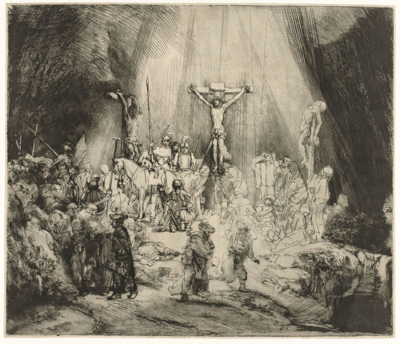 The Three Crosses, Rembrandt Harmensz. van Rijn, 1653