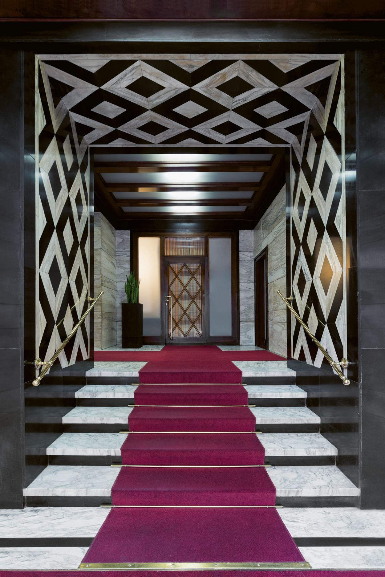 Eingangshalle, Fotografieband, Architektur, Modernismus