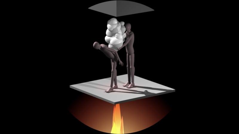 Yves Netzhammer, Tage ohne Stunden, 2014 Video 8 min