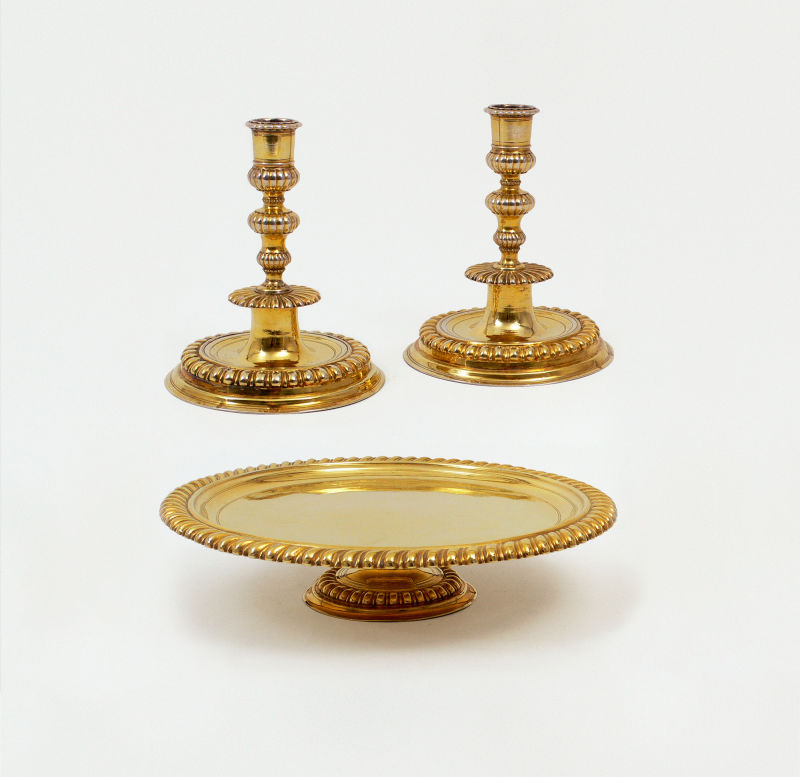Silber vergoldet mit Fussplatte, Pyr für Augsburg 1712/15