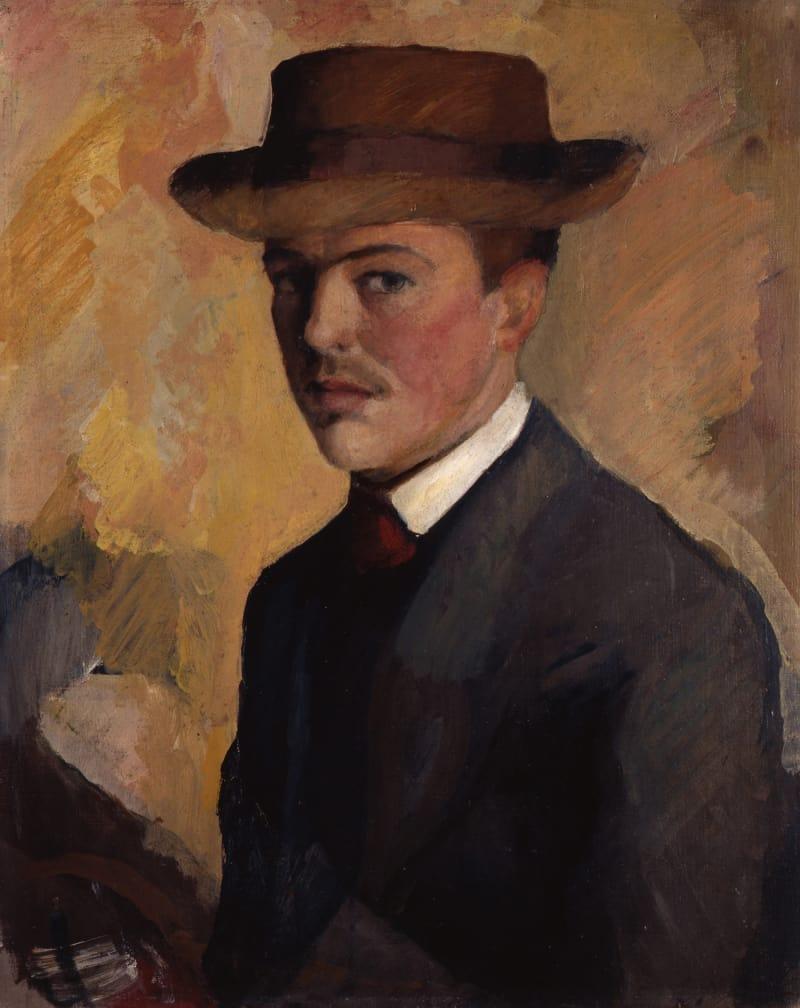 Macke_Selbstportraet_Hut_1909_c_Kunstmuseum_Bonn_gross