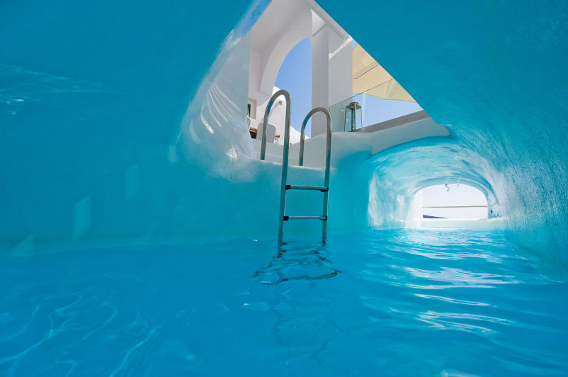 7. Griechenland, Villa auf Santorin