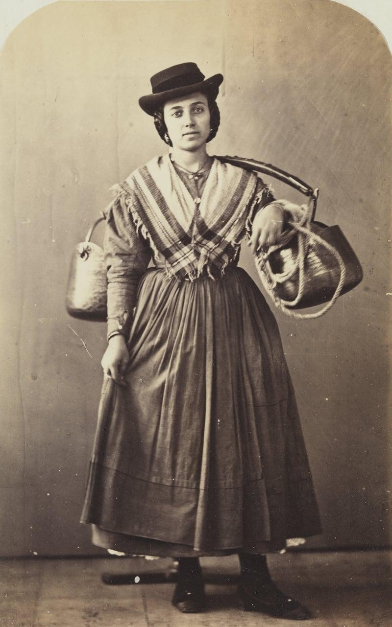 Carlo Ponti (um 1822/24-1893), Wasserträgerin aus Chioggia, um 1860